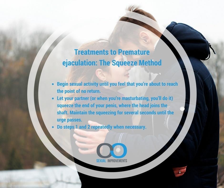 Squeeze method against premature ejaculation