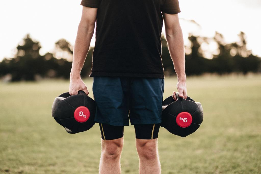Picture of a man doing exercise